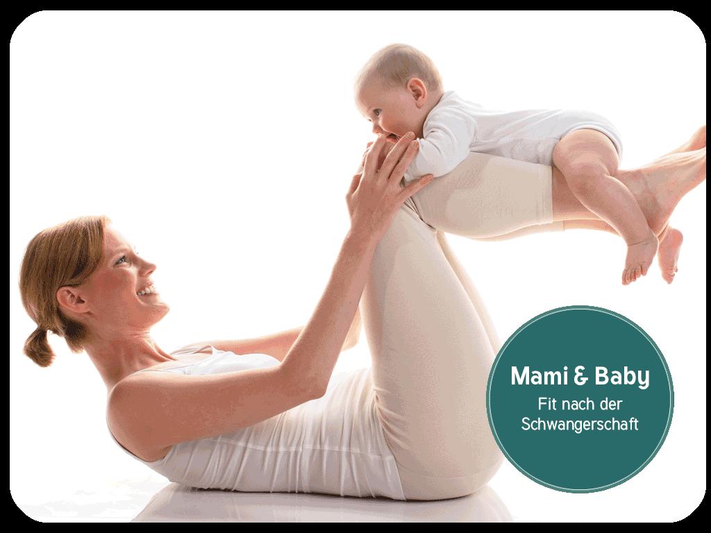 Mami und Baby, Pilates, Rueckbildung, Fit nach der Schwangerschaft, Pilates mit Kind